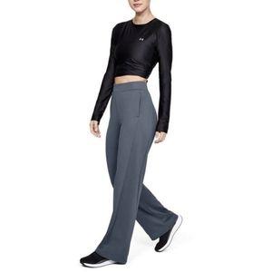 Under Armour Women's Grey Fleece Wide Hem Pants